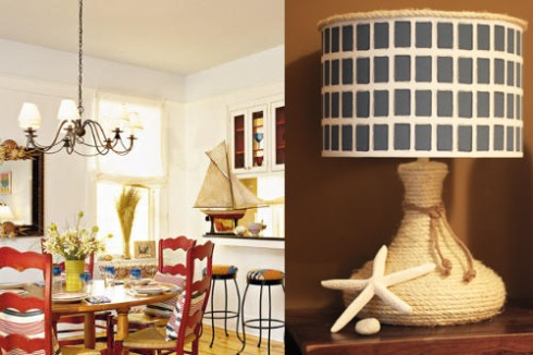 The lamp is a perfect fit for any beach cottage look.