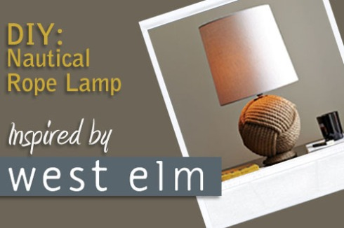 DIY Nautical Rope Lamp Inspired by West Elm