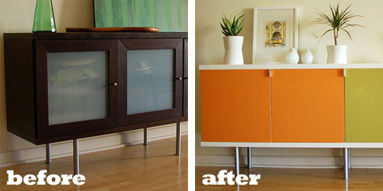 Before and After - IKEA inspired by Knoll