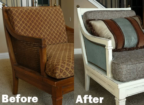 Before and After - Vintage 60s Drexel Chair