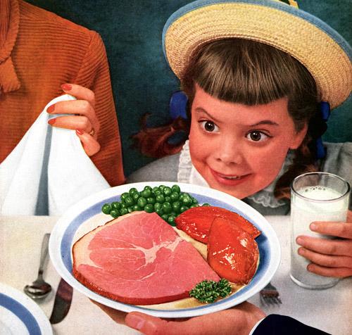 Creepy Vintage Ham Ad
