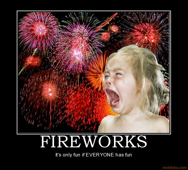 Fireworks Demotivational Poster